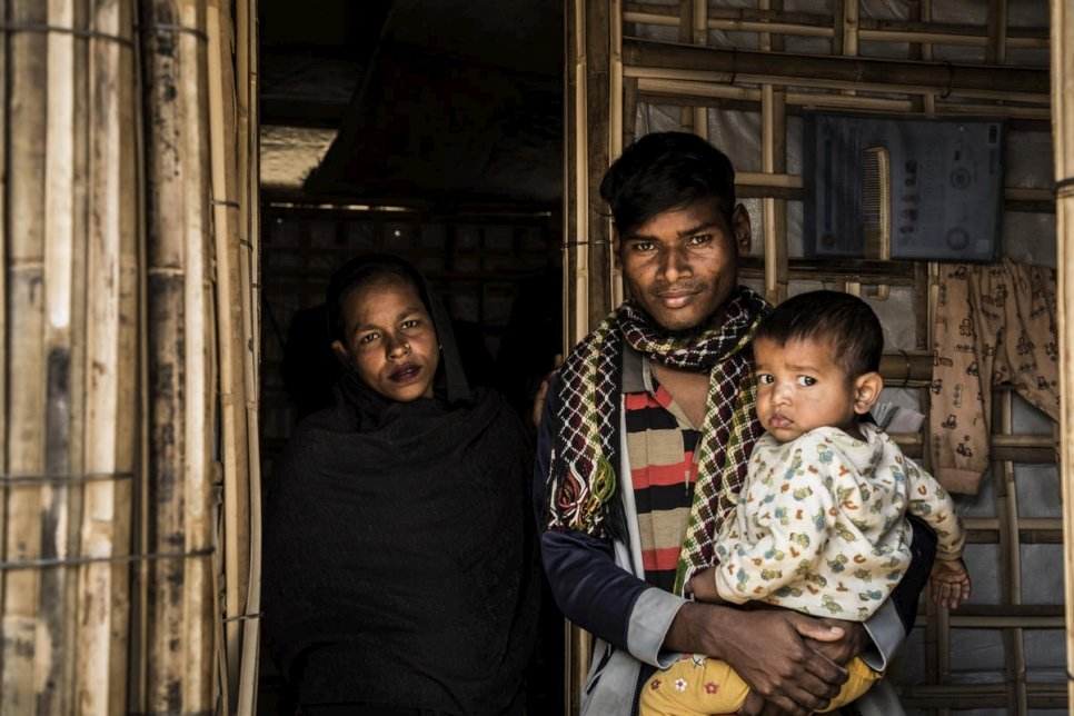 Bangladesh. New shelter eases monsoon threat for young Rohingya family