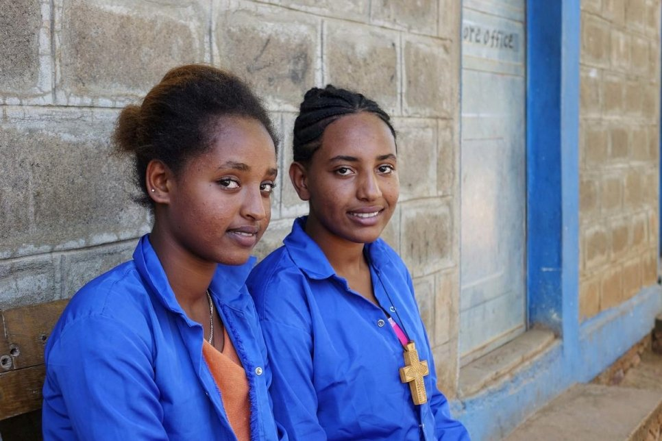 Ethiopia. Eritrean refugee children have access to education in host country