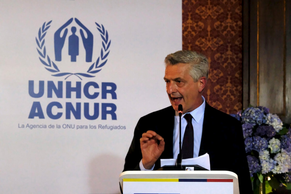 Colombia. Visit of UNHCR's High Commisioner, Filippo Grandi, to Venezuelan refugees and migrants in Bogota, Colombia.