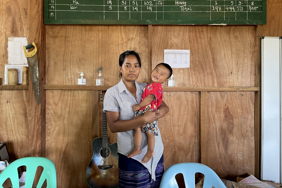 Myanmar. IDP displaced in Kachin State in March 2021 supported by UNHCR and partners