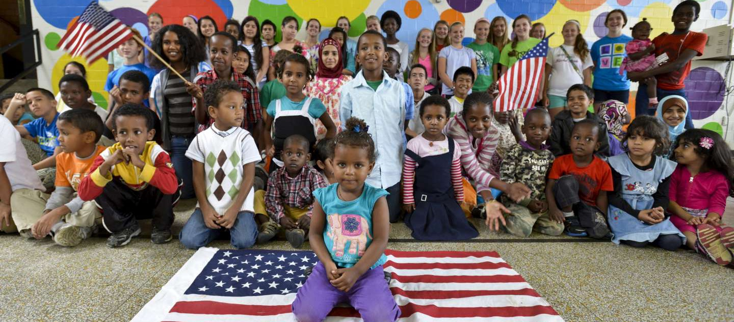 Resettled refugee children in the United States.
