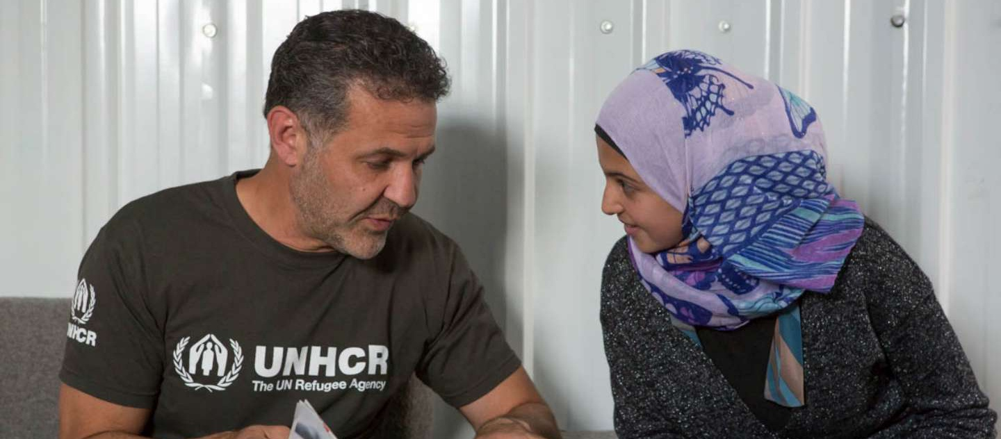 Author and UNHCR Goodwill Ambassador Khaled Hosseini meeting Muzoon 'The Malala of Syrian Refugees' in Jordan on the occasion of World Refugee Day on Saturday, June 20.