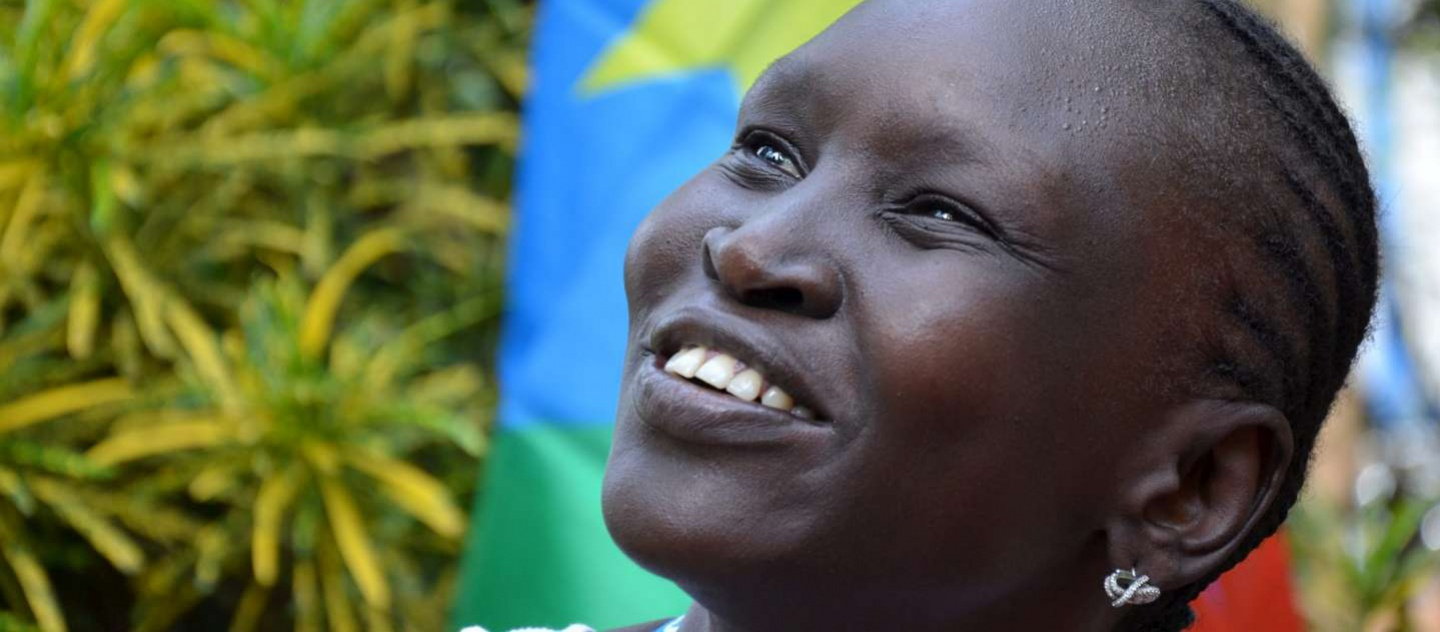 South Sudan / Supermodel Alek Wek returned to South Sudan to mark the first anniversary of independence. / UNHCR / / July 2012