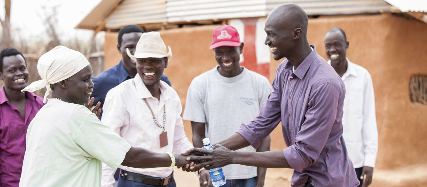 Kenya/UNHCR High Profile Supporter, Ger Duany, visiting Ifo camp in Dadaab.This is where he resided before being resettled to the US.He met with refugees from different nationalities including Southern Sudanese and Somalis/ UNHCR Photo/ February 2015