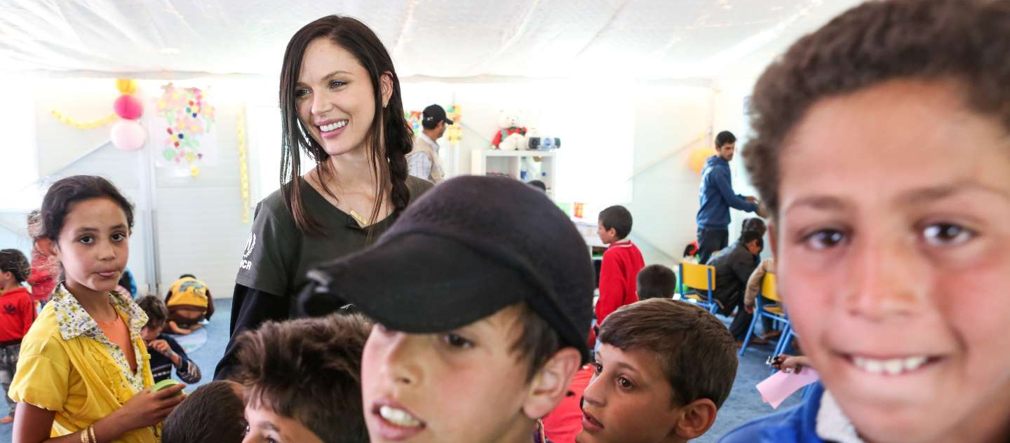 High Profile Supporter Georgina Chapman. 2014