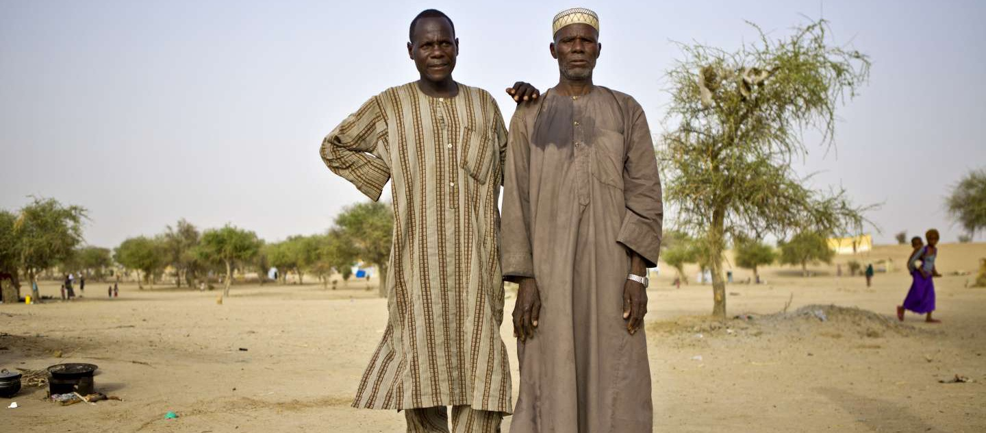 Bala, left, and Mahamadou, right, at Sayam Forage refugee camp in Niger.