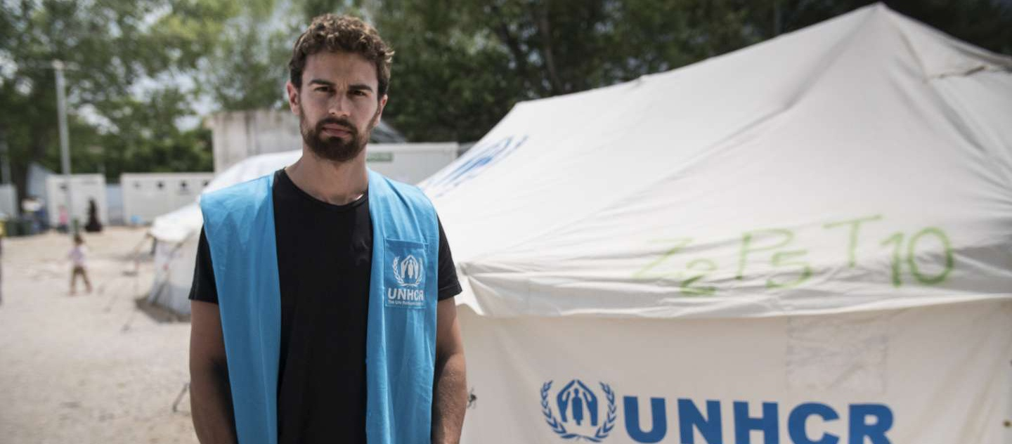UNHCR High Profile Supporter Theo James meets refugees in Greece