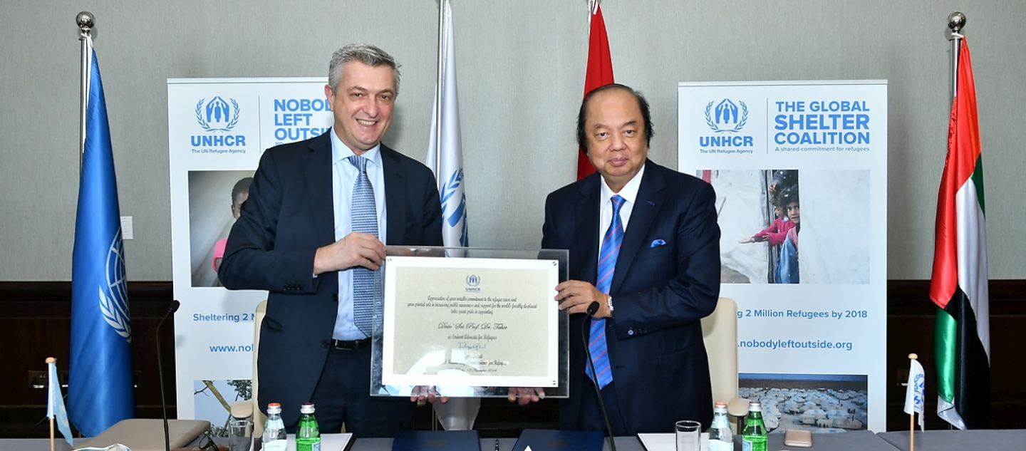 UNHCR, the UN Refugee Agency, today appointed prominent Indonesian businessman and philanthropist, Dato Sri Tahir, as its third Eminent Advocate in recognition of his valuable and selfless work on behalf of millions of refugees...At a special ceremony in Abu Dhabi, Tahir said he was delighted and honoured to be named as UNHCR's first Eminent Advocate from Asia.