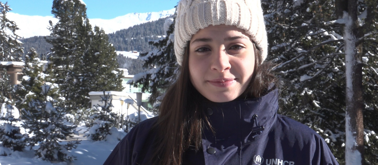 UNHCR High Profile Supporter Yusra Mardini at the World Economic Forum 2017