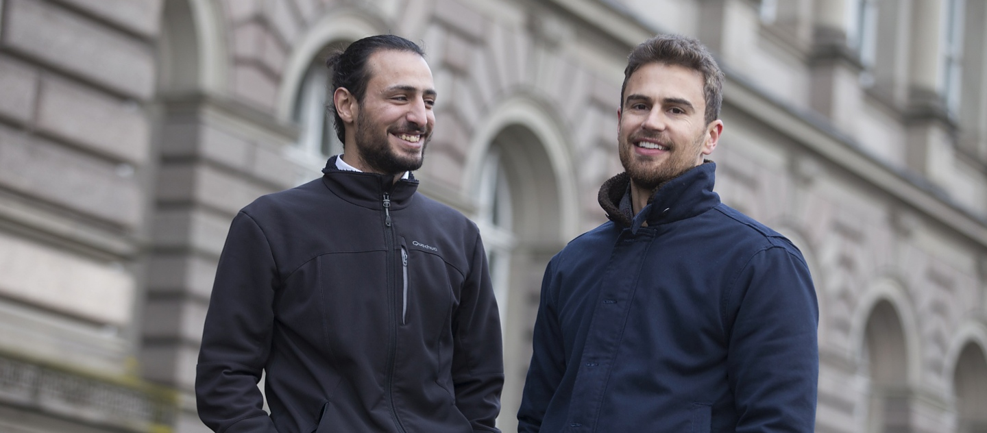 UNHCR High Profile Supporter Theo James reunites with Syrian refugee Housam