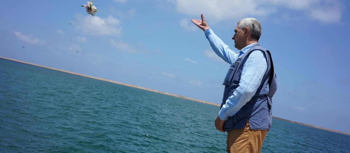Libya. UN High Commissioner for Refugees visits the Libyan Coast Guard