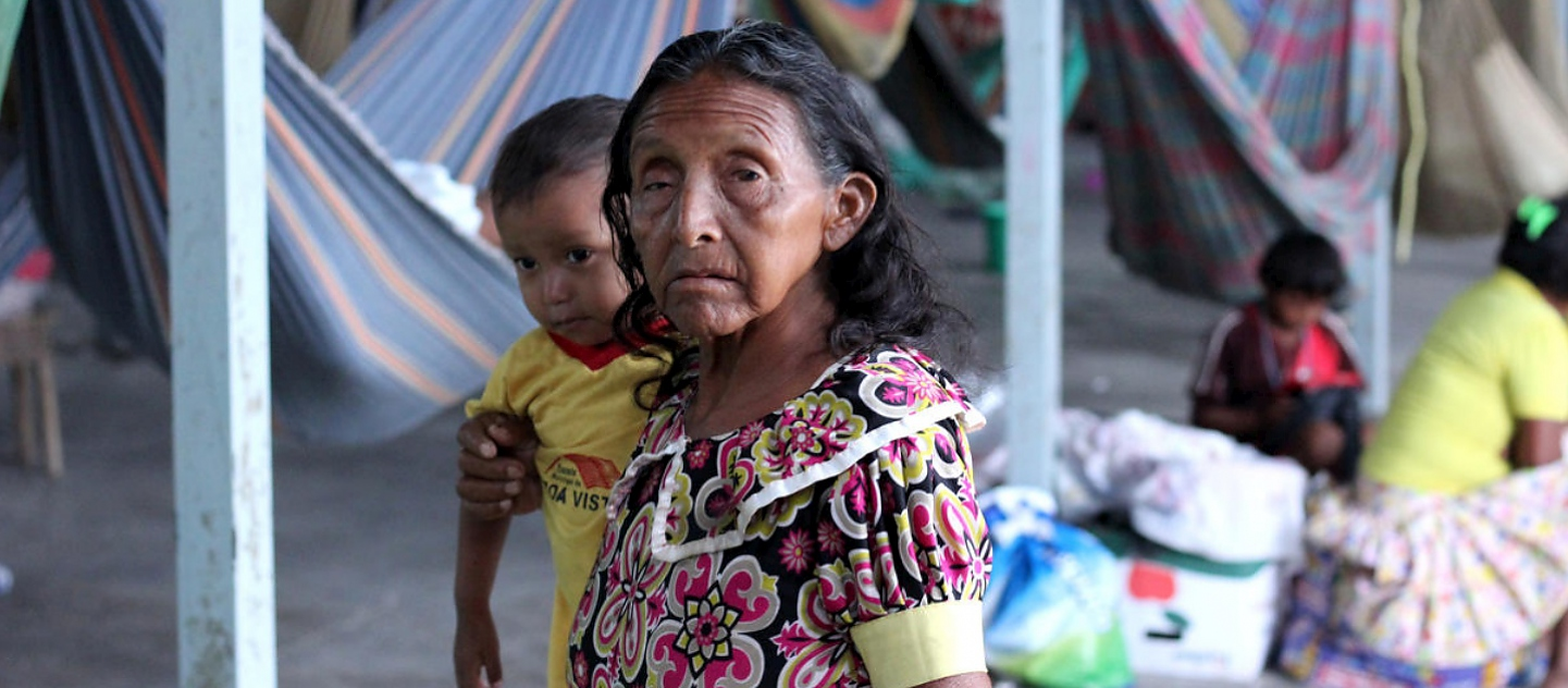 Brazil. Indigenous from Venezuela living on the shelter in Pacaraima, Roraima