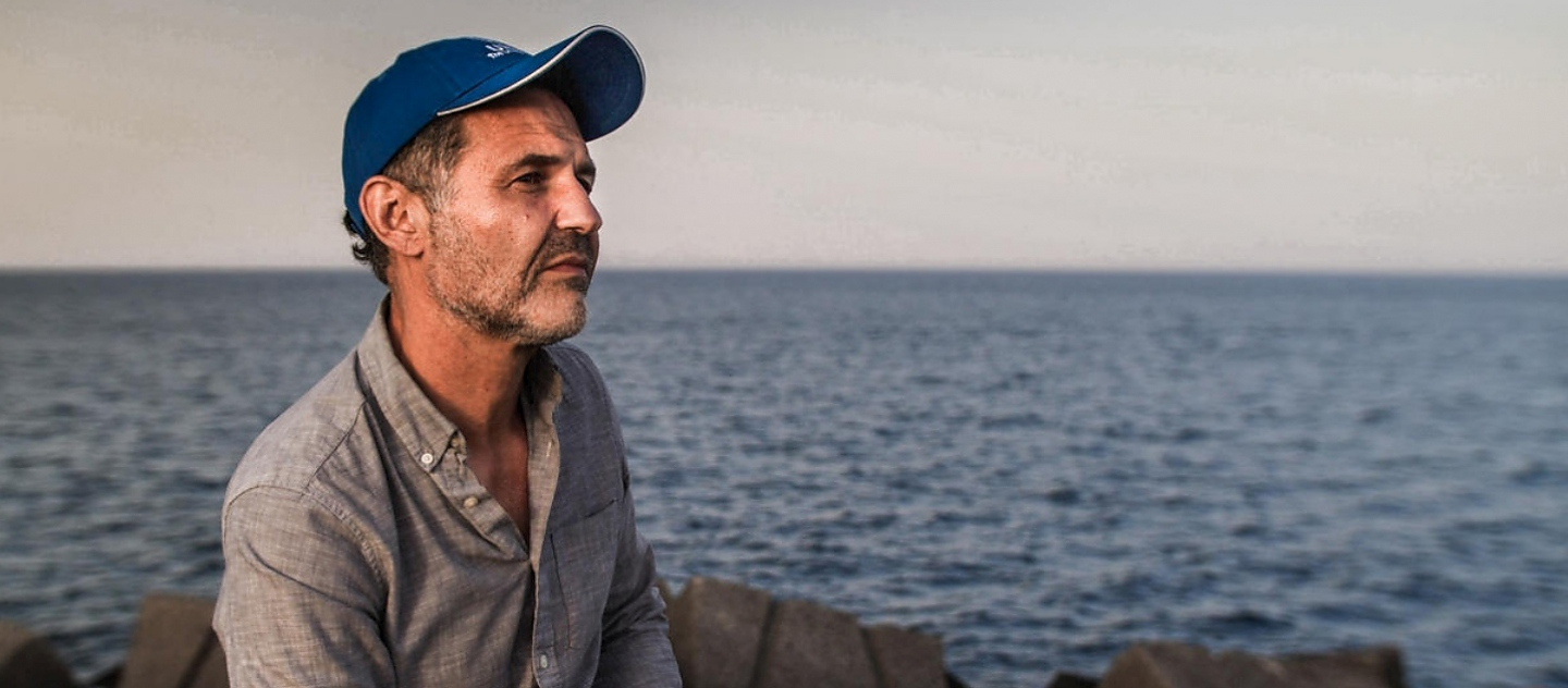 UNHCR Goodwill Ambassador Khaled Hosseini visits Catania, Sicily, to meet refugees who have survived the desperate journey across the Mediterranean Sea to reach safety in Europe.