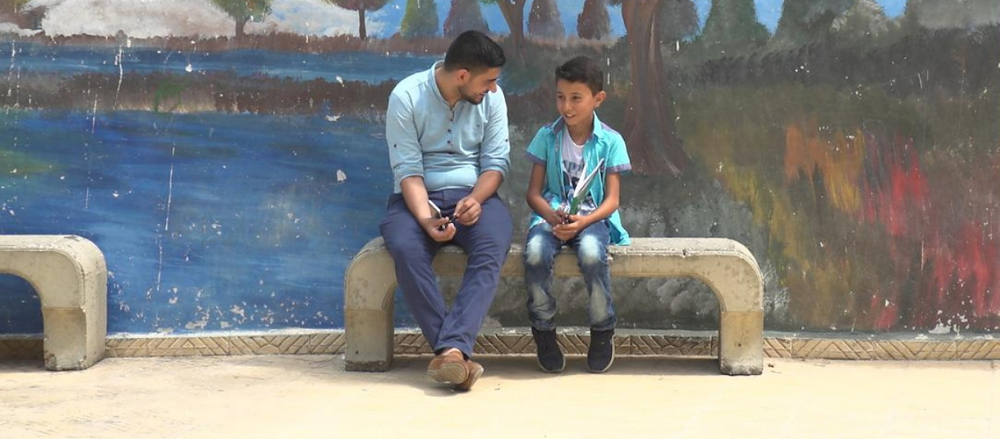 Lebanon. Teacher helps refugee student thrive