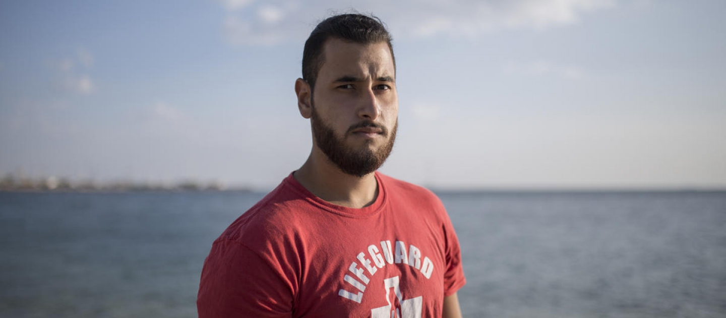 Greece. Syrian refugee helps save lives as volunteer lifeguard