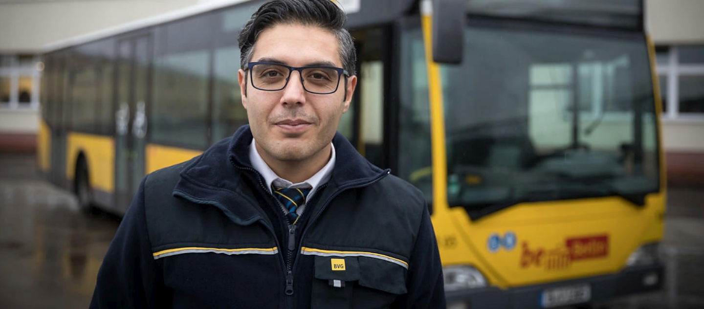Germany. Syrian refugee steers into new life as Berlin bus driver