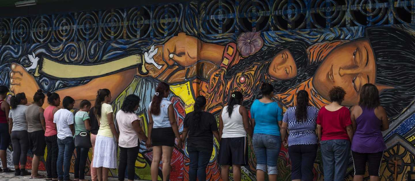 Mexico. Central American women find safety and strength in mural painting