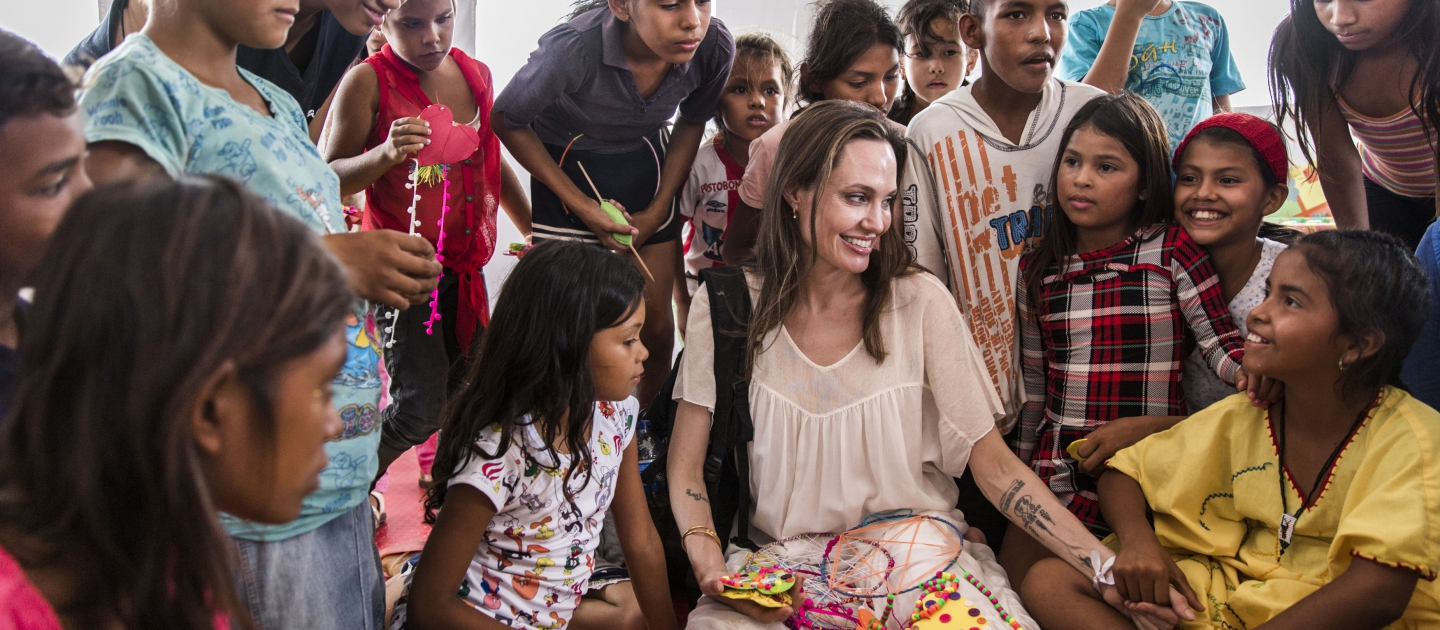Colombia. Visit by UNHCR Special Envoy Angelina Jolie