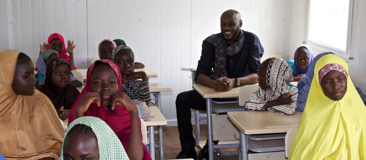 UNHCR / Under The Baobab Productions Ltd. Baba in classroom.