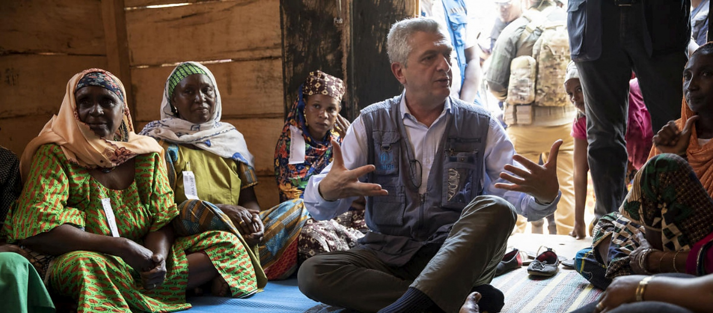 Central African Republic. The United Nations High Commissioner for Refugees meets with internally displaced women