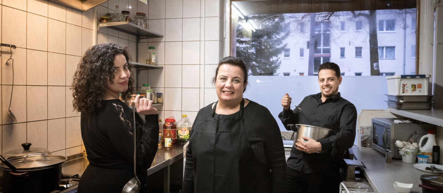 Germany. Berlin can't get enough of Salma's home-cooked Syrian food