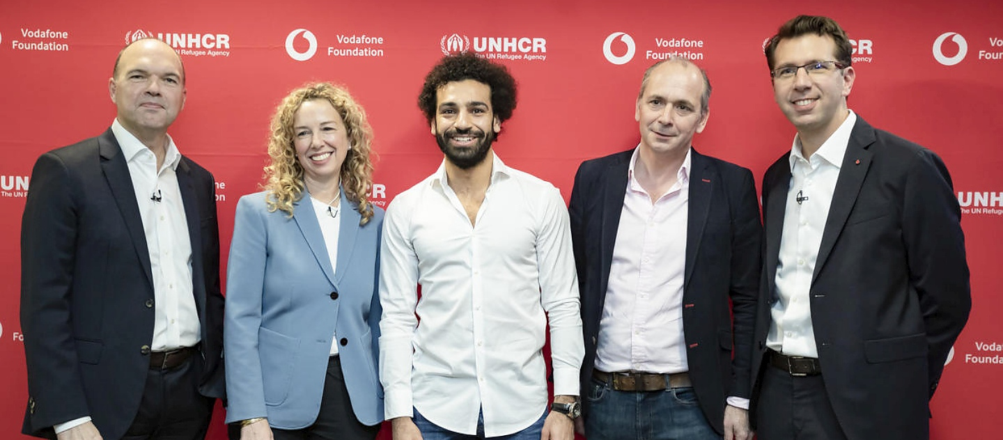 United Kingdom. Mohamed Salah announced as Ambassador for UNHCR / Vodafone Foundation's Instant Network schools programme