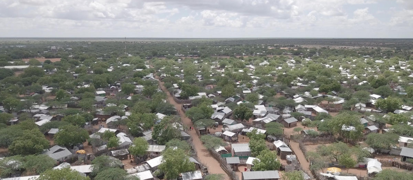 Kenya. Aerial view of Dadaab Refugee Camp