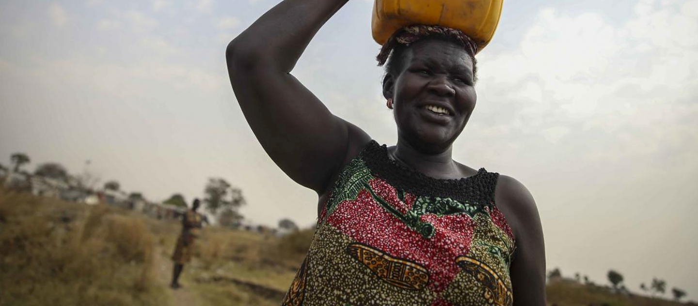 South Sudan. IDP woman serves as go-to conflict mediator