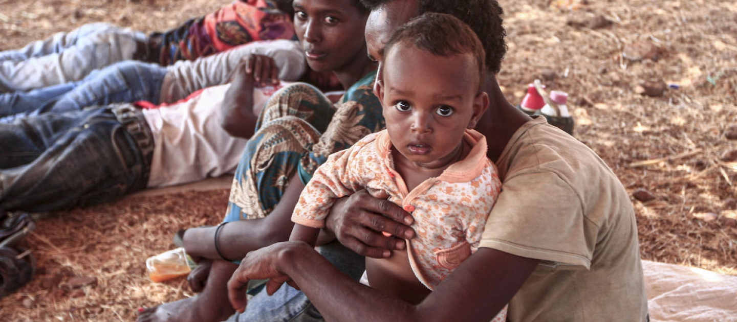 Sudan. Ethiopian refugees in Um Rakuba camp