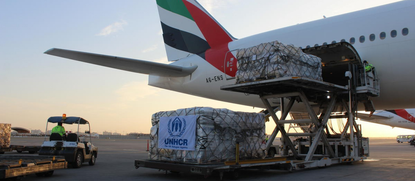 UAE. UNHCR emergency airlift to Sudan