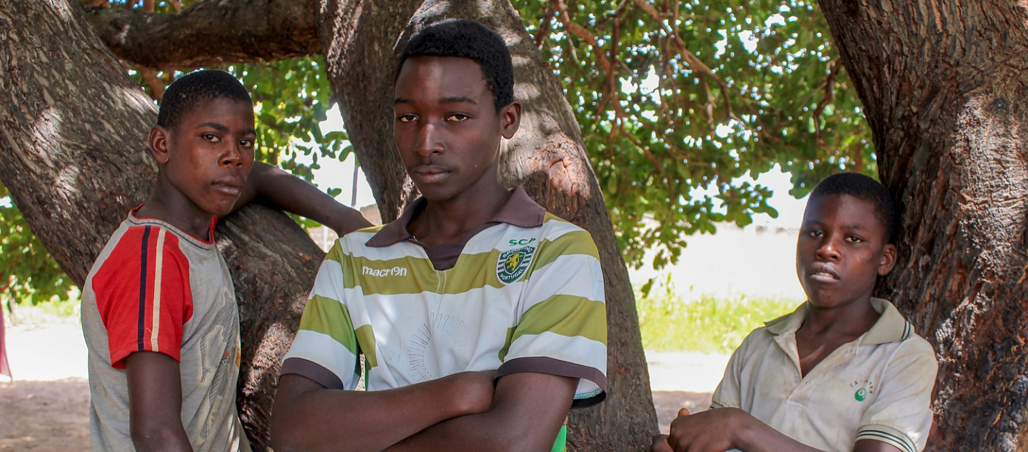 Mozambique. Displaced teenagers in Cabo Delgado.