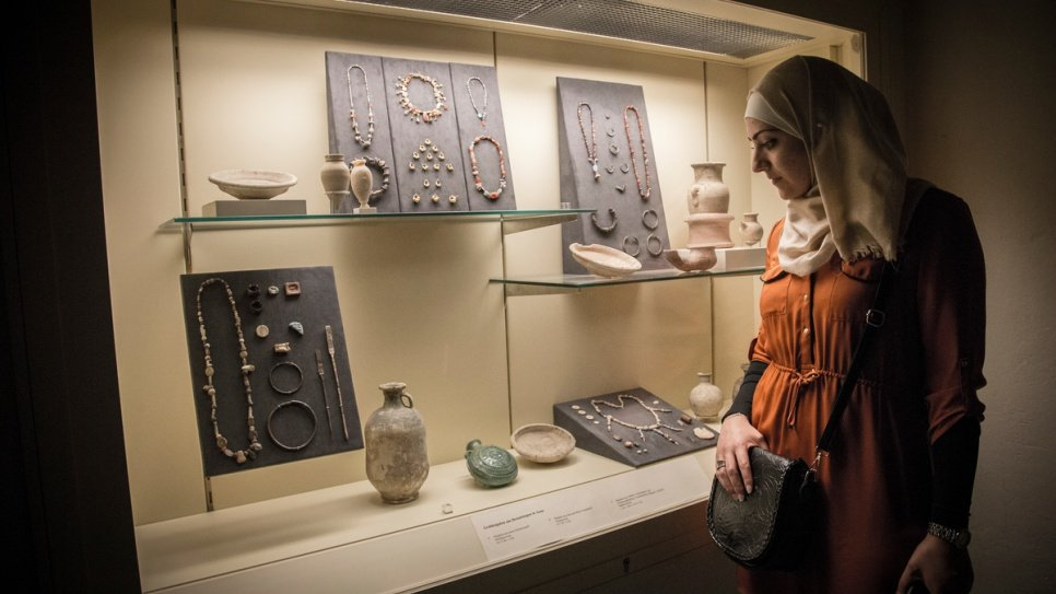 Ancient jewellery is on display at the Ancient Near East Museum, which is part of Berlin's Pergamon Museum.