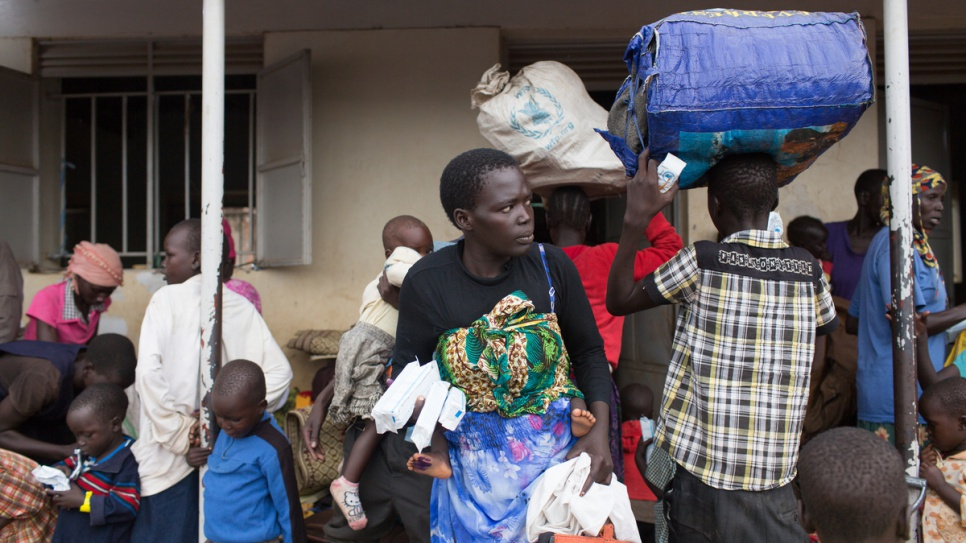 Grace Juru, 25, fled her home with her two children when violence erupted in Juba, the capital of South Sudan.