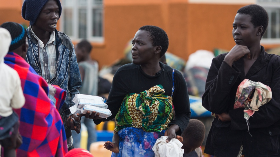 Grace Juru from Juba in South Sudan is reunited with her family after being separated while fleeing to Uganda.