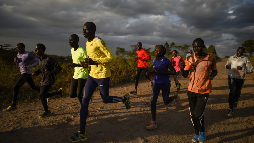 Last training for the Refugee Olympic Team in the Ngong Hills, outside Nairobi, before leaving for Rio.