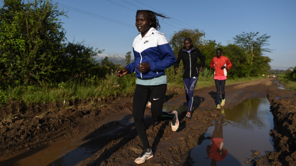Kenya. Refugee Olympic Athletes training