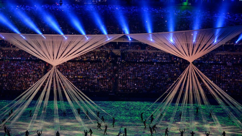Spectacular show marks the official opening of Rio Olympics.