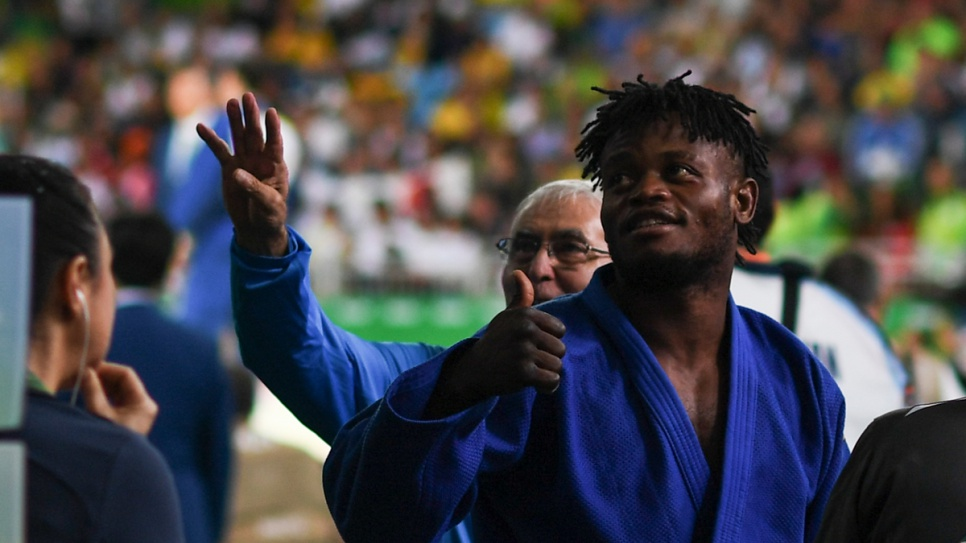 Even though Popole lost his second match against Donghan Gwak, who went on to win the bronze medal, he was supported by the crowd as a local hero.