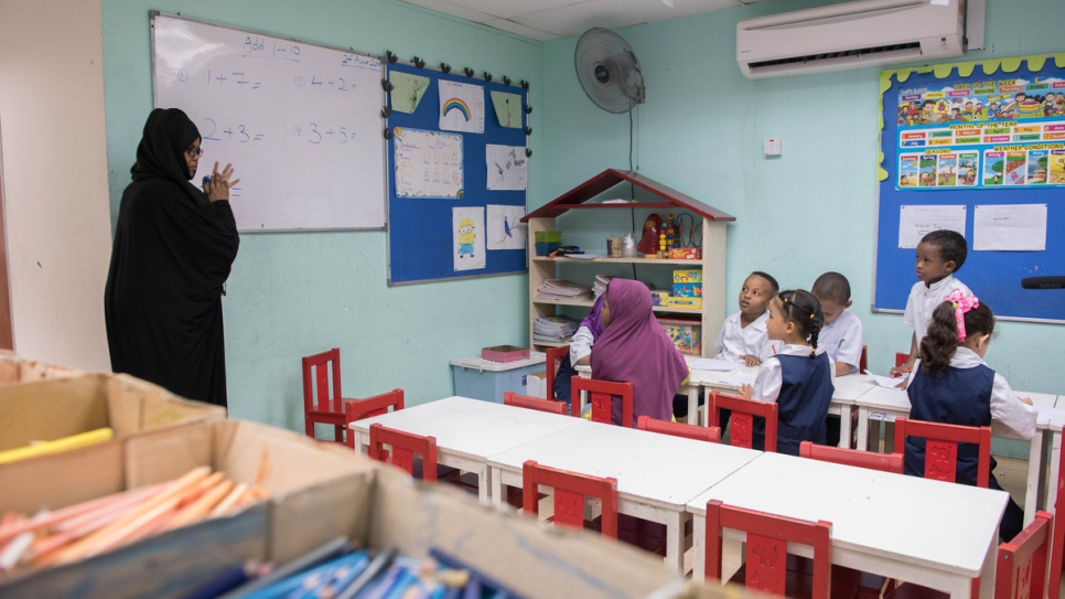 There are about 21,700 school-age refugee children in Malaysia. Only 30 per cent of them have access to education in informal community-based learning centres.