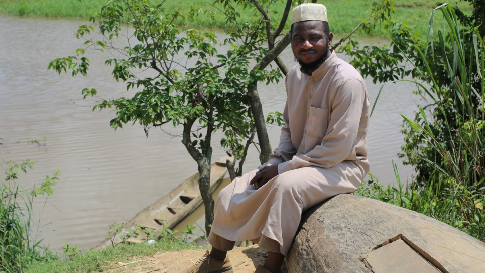 Imam Moustapha Mobito, 36, fled war in Bangui and found refuge in Zongo, a small town on the banks of the Oubangui River.