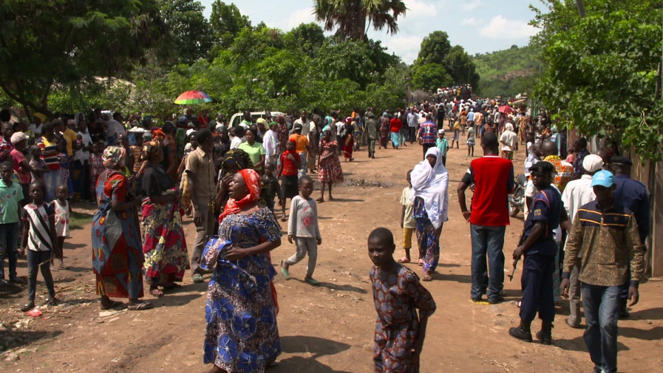 The small town of Zongo, in the Democratic Republic of the Congo, where almost 10,000 refugees have sought shelter.