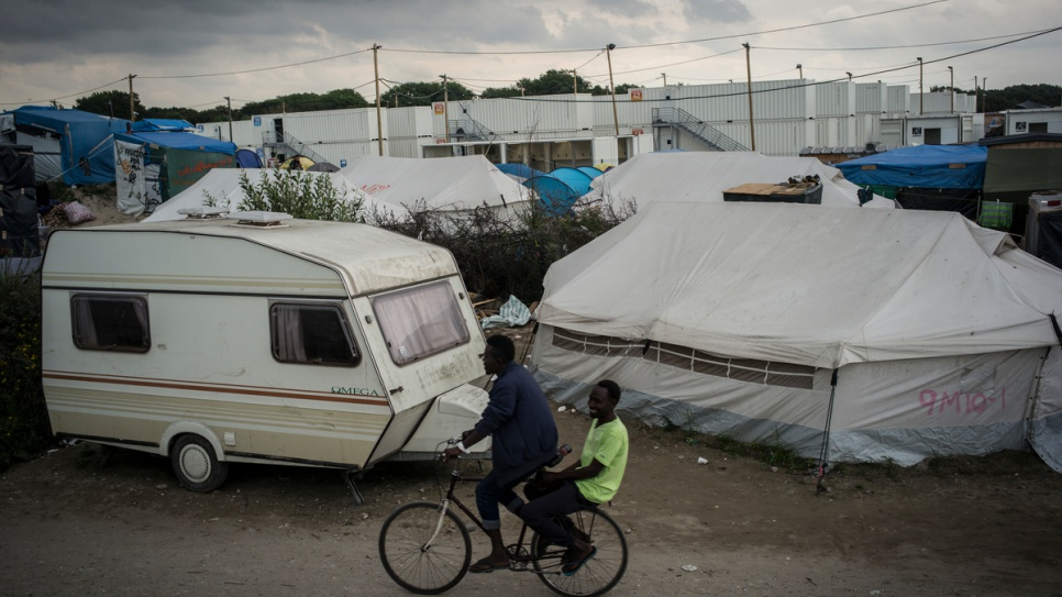 Nearly 7,000 refugees and migrants are living in the so-called jungle of Calais.
