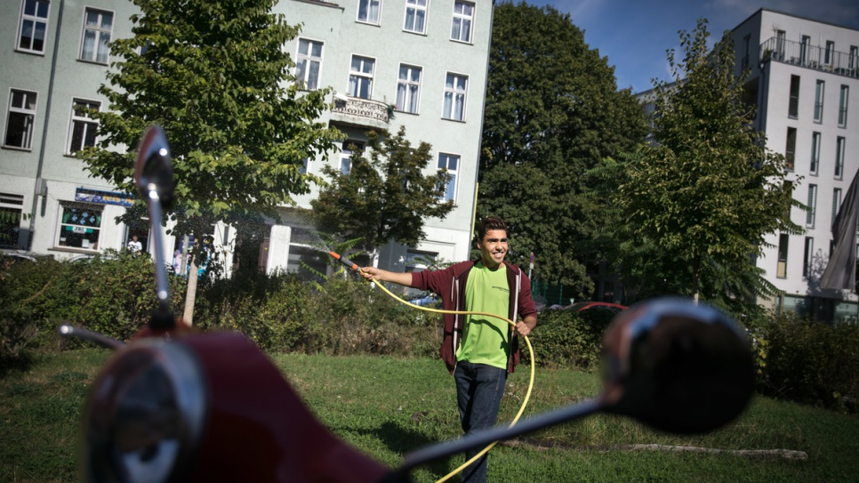 Hassan fled violence near his home in Ghazni, Afghanistan, last summer and made his way to Germany.
