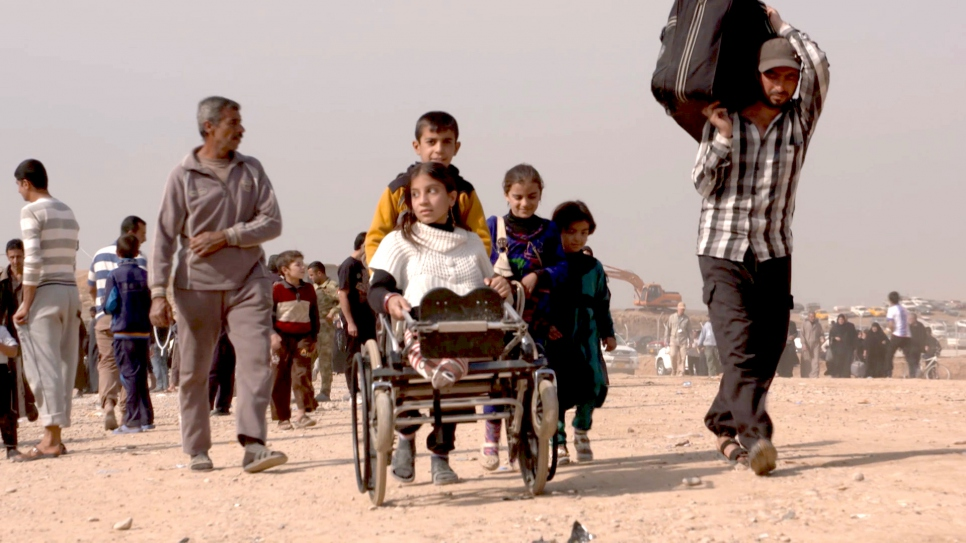 Camp fills as Mosul displacement grows