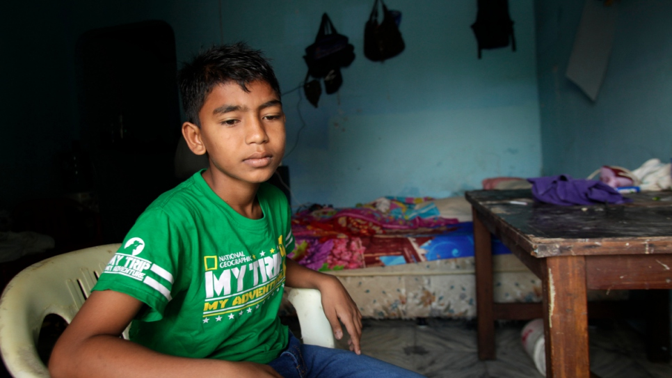 """We always had to hide on the way to school,"" Yasin recalls. ""If we said we were Muslim, they would beat us."""