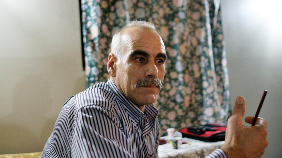 In Al-Qusayr, Syria, Toufic worked for more than 20 years as a carpenter.