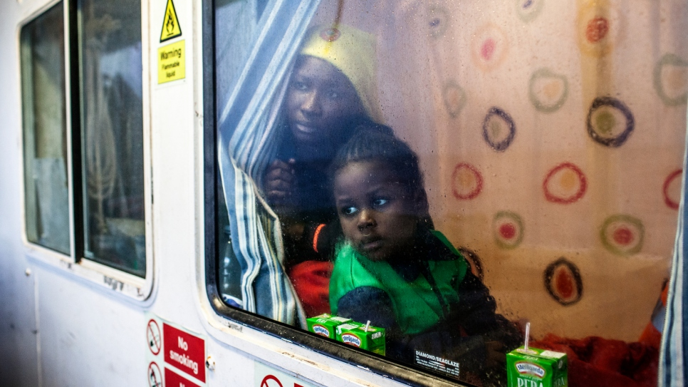 After being rescued by MOAS these people were taken to the Italian town of Pozzallo.