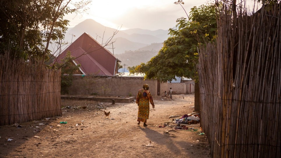Rehema Kankindi walks through the streets of her new home, the city of Uvira.