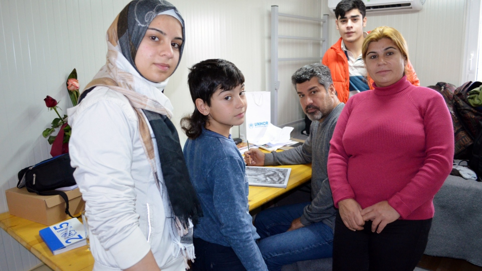 The family have lived for months in temporary accommodation in the former Yugoslav Republic of Macedonia.
