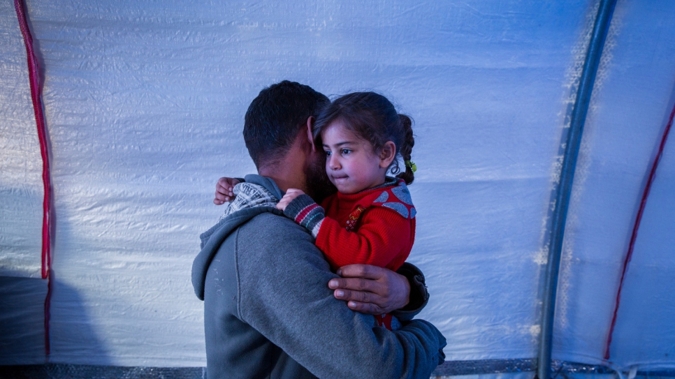Mohammed*, 42, fled his home with his wife and three young daughters.